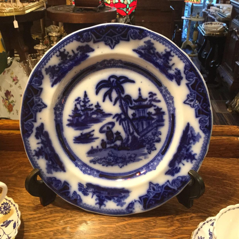 Netherlands Antique Dish オランダ製 ヤシの木風景 アンティーク皿