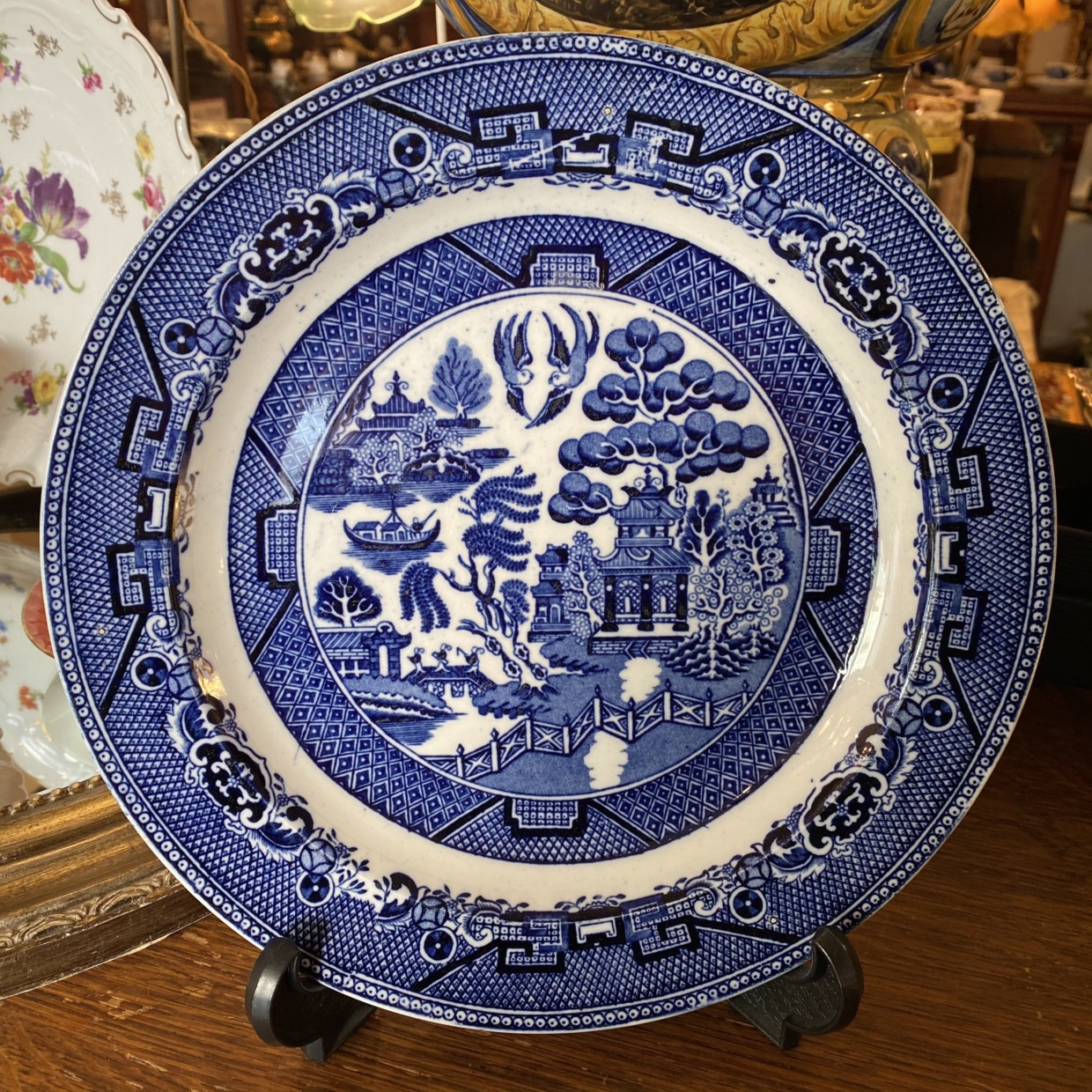 Blue Willow Pattern ウィローパターン アンティーク皿