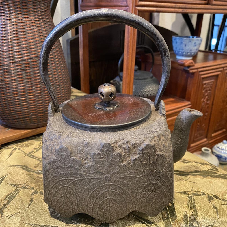 桐柄 鉄瓶