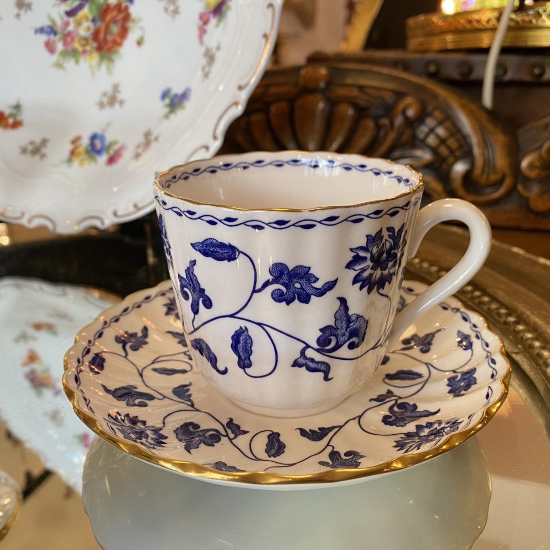 スポード Spode BLUE COLONEL コーヒーカップソーサー