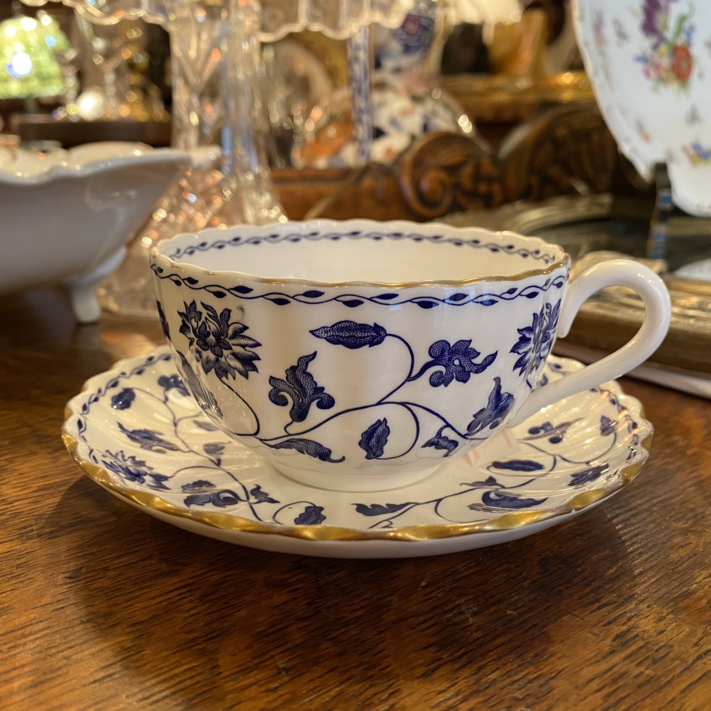 スポード Spode BLUE COLONEL(ワイド)コーヒーカップソーサー
