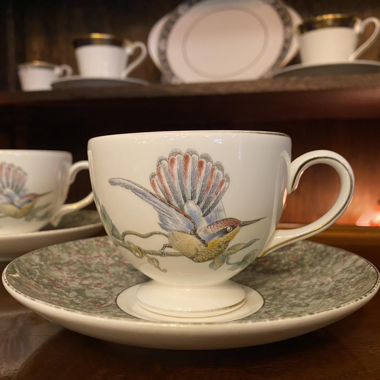 Wedgwood ウェッジウッド  HUMMING BIRDS ハミングバーズ コーヒーカップソーサー