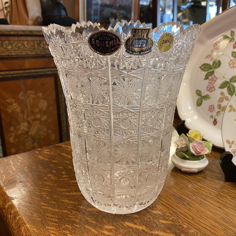 BOHEMIA ボヘミア クリスタル花瓶 (広型)