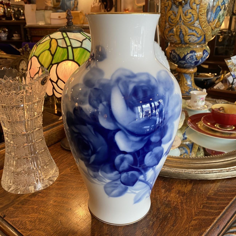 BLUE ROSE ブルーローズ 花瓶 (大) 大倉陶園