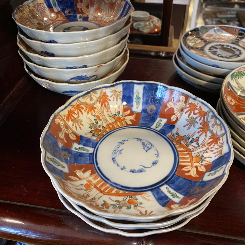 伊万里焼 赤絵 なます皿
